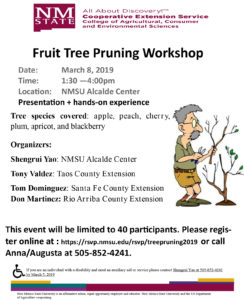 Fruit Tree Pruning Workshop @ NMSU Alcade Center | Ohkay Owingeh | New Mexico | United States