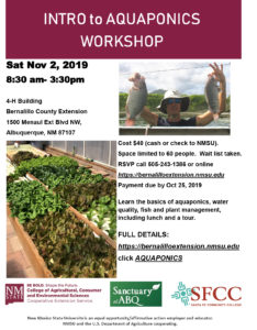 Introduction to Aquaponics Workshop @ 4-H Building Bernalillo County Extension | Albuquerque | New Mexico | United States